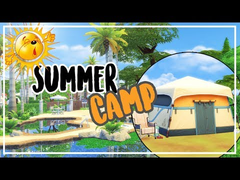 SUMMER CAMP 🌞 Sims 4 camping Speed Build + download