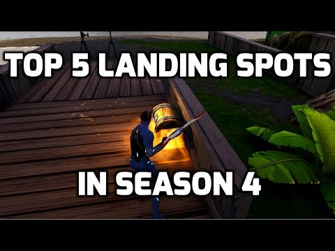 Fortnite: Top 5 Places to Land After Season 4 Update - (Fortnite Top 5 Landing Spots in Season 4)