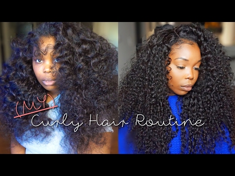 CURLY HAIR ROUTINE | How I Revive My Curly Hair Extensions