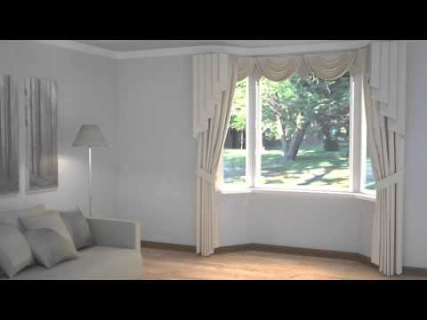 How to Dress Windows | Bay Windows with Curtains