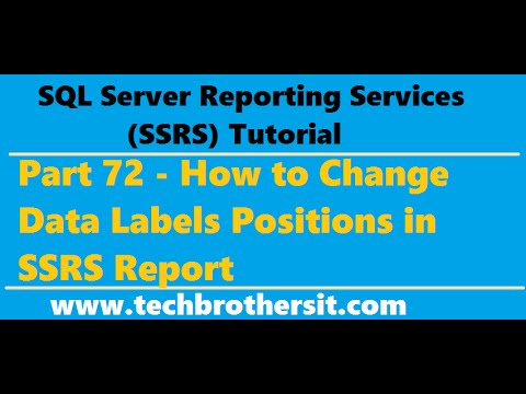 SSRS Tutorial 72 - How to Change Data Labels Positions in SSRS Report