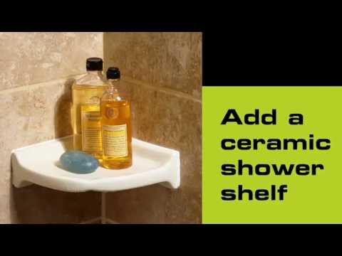 How to install a ceramic shower shelf