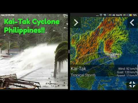 Kai-Tak Cyclone Heading to Malaysia from Philippines!!