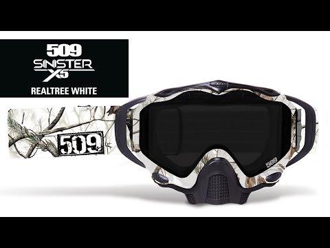 509 - Sinister X5 Realtree White Snowmobile Goggle