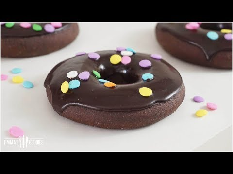 Double Chocolate Glazed Donuts Recipe ( Baked In Oven, Not Fried)
