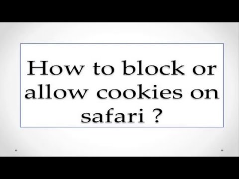 How to block or allow cookies on safari