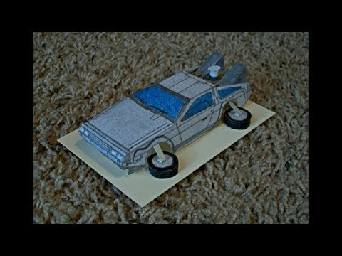 Paper Model of the DeLorean Time Machine from the