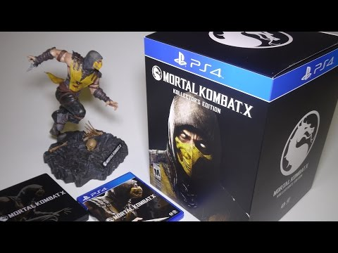 Unboxing Mortal Kombat X Kollector's Edition for PS4