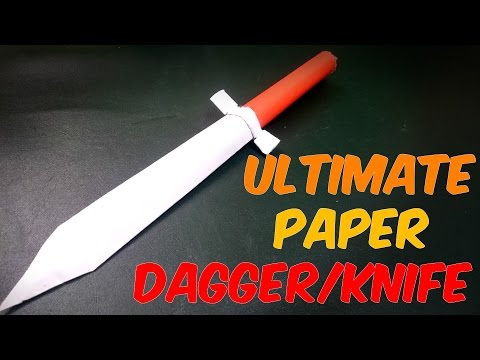 How to Make a PAPER KNIFE/DAGGER - EASY CRAFT