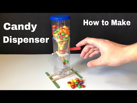 How to Build Candy Dispenser at Home Out of Plastic Bottles