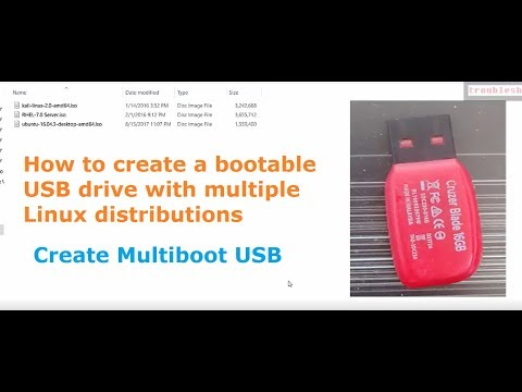 How to create a bootable USB drive with multiple Linux distributions