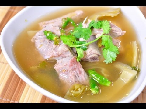 [Thai Food] Spicy Pickle Mustard Green Soup (Tom Pu Gong)