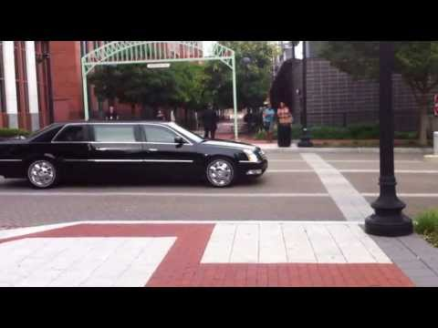 Vice President Biden's Motorcade leaving USDOT
