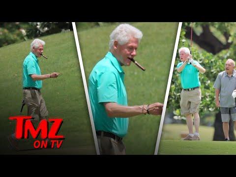 Bill Clinton: Cigars and Golf! | TMZ TV