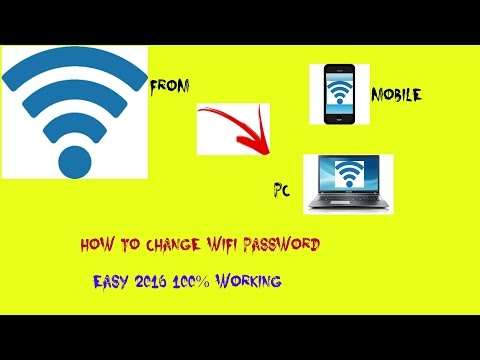 How to Change your wifi password ??? FROM PC