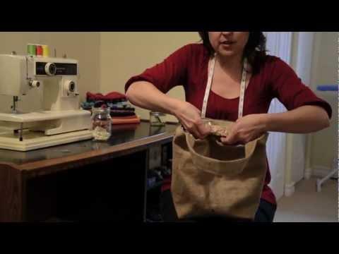 Burlap Tote Tutorial - Spools and Bobbins Sewing - Halifax NS