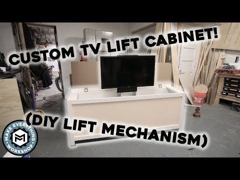 Custom TV Lift Cabinet (With DIY Manual Lift Mechanism)