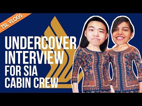 UNDERCOVER INTERVIEW FOR SIA CABIN CREW | TSL Vlogs