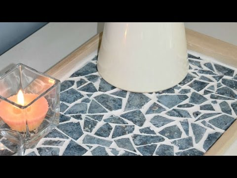 How To Create A Beautiful Mosaic Tray From Old Tiles - DIY Home Tutorial - Guidecentral