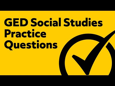 Free GED Social Studies 2018 Practice Test Questions