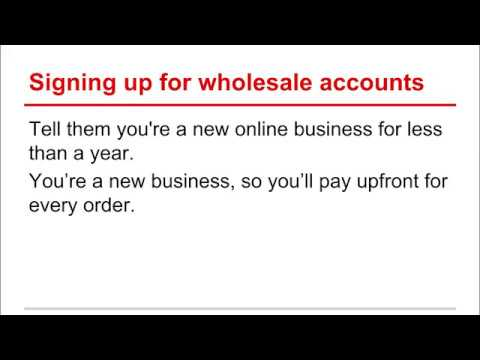 Business Selling on eBay : Signing up for Wholesale Accounts