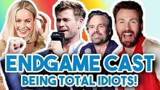 Download AVENGERS ENDGAME CAST BEING COMPLETE IDIOTS FOR 12 MINS STRAIGHT | FUNNY MOMENTS 2019 Video