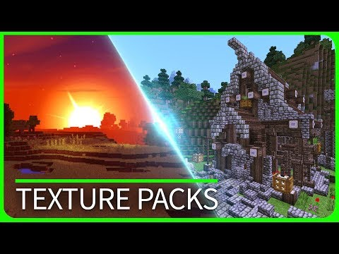 Minecraft PE - TOP 3 BEST TEXTURE PACKS with Download - iOS & Android MCPE 1.1 / 1.2 / 1.1.5