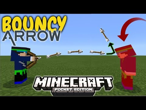 BOUNCY ARROWS In Minecraft PE 1.2.16+ (Collect Arrows After Killing Mobs)