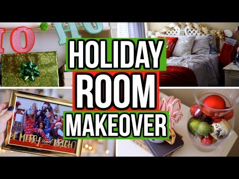 HOLIDAY ROOM MAKEOVER 2017! Easy DIY Holiday Room Decor