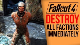 [Fallout 4] What happens if you destroy all factions IMMEDIATELY?