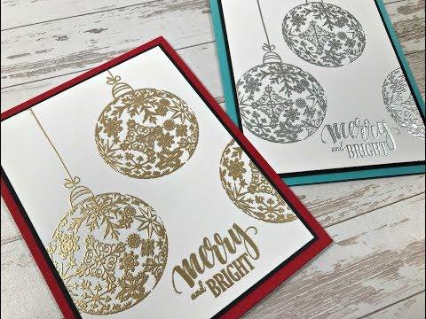 Merry & Bright Ornament Card