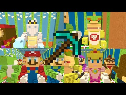 Minecraft Wii U - How to Build Mario Statues [TUTORIAL]