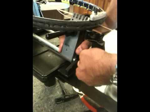How to string a tennis racket - Part 2 of 7.