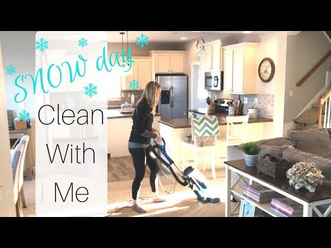 Snow Day Clean With Me | Speed Cleaning | Cleaning Motivation