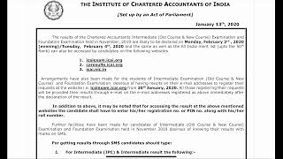 🔴 Breaking News | ICAI Announcement | CA Inter result date announced