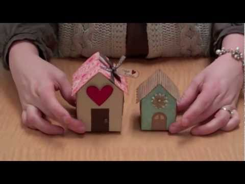 Make Your Own House Shaped Boxes!