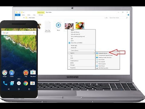 How to Transfer Picture, Music, Video & Data from Laptop to Phone Via Bluetooth