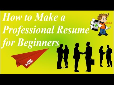 How to Create, Write or Build a Professional Resume/BioData in Microsoft Word for Beginners in Hindi