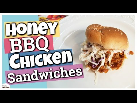 HONEY BBQ CHICKEN SANDWICHES in the Slow Cooker || Easy Weeknight Meal
