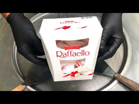 Raffaello Ice Cream Rolls | how to make Raffaello Ice Cream / fried rolled Cocos - ASMR Food Recipe