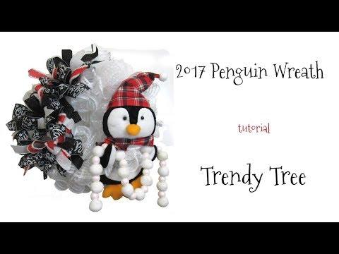 2017 Penguin Wreath Tutorial by Trendy Tree