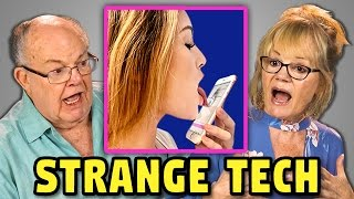 ELDERS REACT TO LICKING APP, SMART CONDOM, BUYING FAKE FRIENDS, & MORE! (Crazy Apps & Tech)
