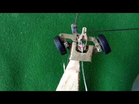 Magnetic self steering / servo steering mechanism 1/64 scale RC car (Faller hybrid design)