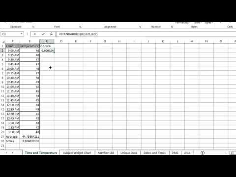 What Are Z-Scores on Microsoft Excel? : Microsoft Office Lessons