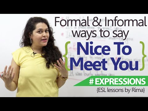 English Lesson - Formal & Informal ways to say 'Nice to meet you' ( Free English speaking Lessons)