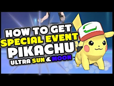 HOW TO GET ASH PIKACHU I CHOOSE YOU - Pokemon Ultra Sun and Ultra Moon