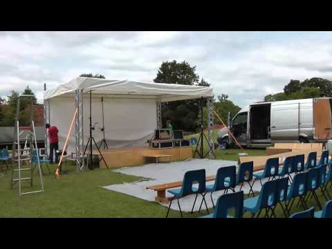 Outdoor Stage Build | Western Downland School 2013 Variety Show