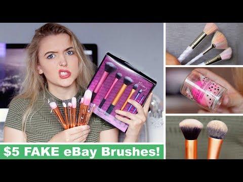 Testing FAKE Ebay Makeup Brushes! *FAIL*