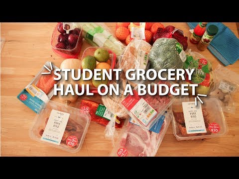 student grocery haul on a budget | STUDY ABROAD IN IRELAND