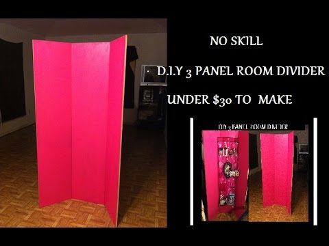 DIY: 3 Panel Room Divider ▌Under $30 to Make ▌Little to No Skill